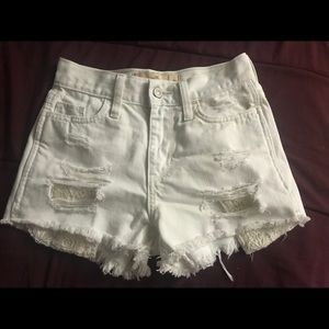 Ripped White Shorts
